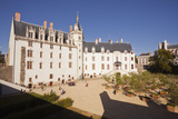 The Chateau Des Ducs De Bretagne in the City of Nantes  Loire-Atlantique  France  Europe