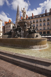 The Fountain in Place Royale in the Centre of Nantes  Loire-Atlantique  France  Europe