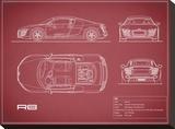 Audi R8 V10-Maroon