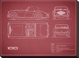 Austin-Healey 100-Maroon