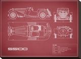 Jaguar SS-100-Maroon