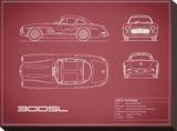 Mercedes 300SL Gullwing-Maroon
