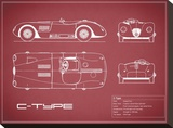 Jaguar C-Type-Maroon