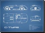 Jaguar C-Type-Blue