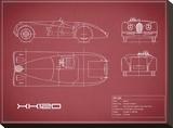 Jaguar XK-120-Maroon