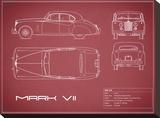 Jaguar MkVII-Maroon