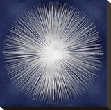 Silver Sunburst on Blue I