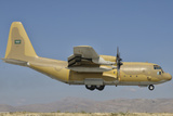 A Royal Saudi Air Force C-130 Prepares for Landing