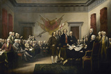 Painting of Leaders Presenting the Declaration of Independence
