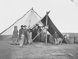 Dressed Beef Hanging in Tent During American Civil War
