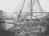Gunboat Uss Mendota on James River During the American Civil War