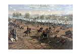 Vintage Civil War Print of the Battle of Gettysburg