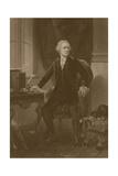 American History Print of Alexander Hamilton Sitting at His Desk