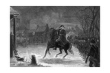 Vintage American History Print of General George Washington at the Battle of Trenton