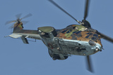 A Bulgarian Air Force Super Puma Helicopter in Flight over Bulgaria