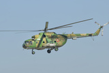 A Bulgarian Air Force Mi-8 Helicopter in Flight over Bulgaria