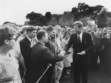 President Kennedy Greets Peace Corps Volunteers on the White House South Lawn