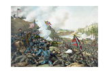 Vintage Civil War Print of the Battle of Franklin