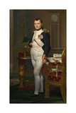Vintage Painting of the Emperor Napoleon in His Study