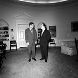 President John F Kennedy with a Visitor at the White House