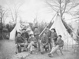 American Civil War Soldiers at their Encampment