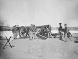Artillery Drill in Fort During the American Civil War