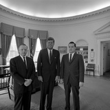 President John F Kennedy with Visitors at the White House