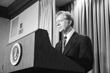 President Jimmy Carter Speaking During the Iran Hostage Crisis