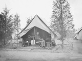 Officer in Tent During American Civil War