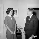 President John F Kennedy with a Former White House Staff Member