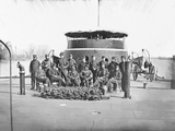 Officers on Deck of Monitor on James River During the American Civil War