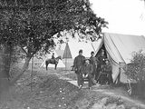 Group of American Civil War Officers at their Encampment