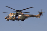 A Turkish Air Force As532 Al Cougar During a Flypast in Izmir  Turkey
