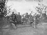 Soldiers at Camp During the American Civil War