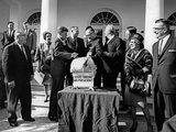 President John F Kennedy Receives a Thanksgiving Turkey