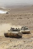 Merkava Iii Main Battle Tanks in the Negev Desert  Israel