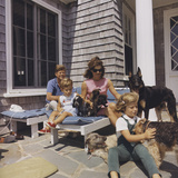The Kennedy Family with Dogs During a Weekend Getaway