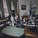 Halloween Visitors at the White House Oval Office