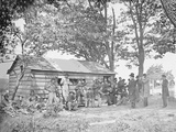 Camp Scene at a Sutler's Store During American Civil War