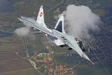 A Bulgarian Air Force Mig-29 in Flight over Bulgaria