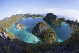 Limestone Islands Surround a Lagoon in a Remote Part of Raja Ampat