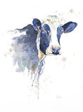 Watercolor Blue Cow