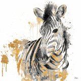 Water Zebra With Gold