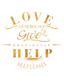 Love Generously (gold foil)