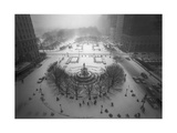 Top View Fifth Avenue  Snow