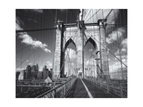Brooklyn Bridge Walkway Clouds