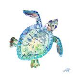 Sea Life In Blues I (turtle) Reproduction d'art par Julie DeRice