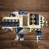 Bison on Wood