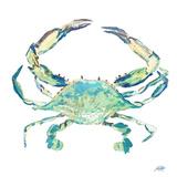 Sea Life in Blues II (crab) Reproduction d'art par Julie DeRice