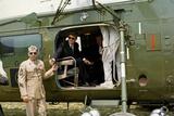 Presideent John F Kennedy Sitting Inside Helicopter